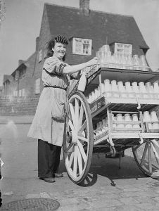 Women Deliver the Milk in Wartime Britain, 1942